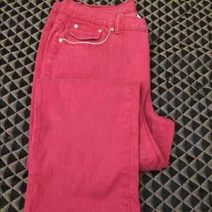 Red Classic Fit Jeans 👖